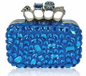 modre spolocenske kabelky, prstenove modre kabelky